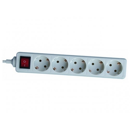 Produžni kabel 0817 5/1,4m +sklopka,bijeli