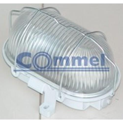 Brodska svjetiljka s metalnom zaštitom 100W siva 56300