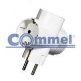 T razdjelnik trostruki 6338-3 bijeli, 16A