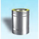 Aluminato izolirana dimovodna cijev L=250 mm Ø 160/250