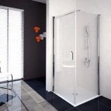 Aquaestil okretna vrata Oasis D+W 100cm bijeli / prozirno