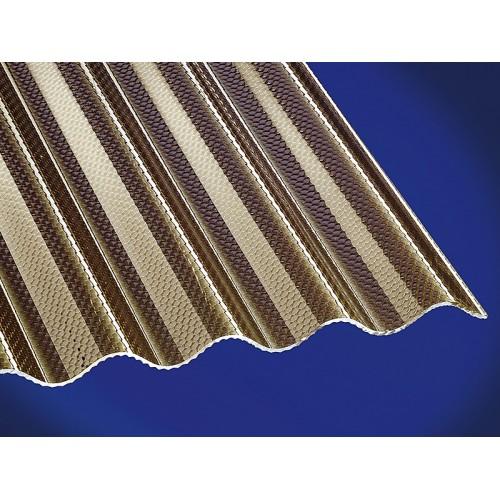 Krovna ploča Gutta akrilna saće bronca 2000x1045x2,8 mm